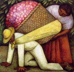 Cargador de flores (1935). Diego Rivera.