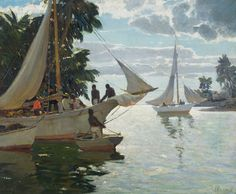 Anthony Thieme, 'In the Bahamas,' oil on canvas, 30 x 36 inches. Estimate: $30,000–$50,000. Barridoff Galleries image.