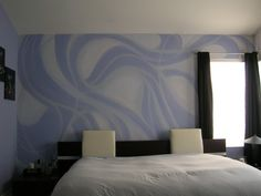 crazy cool paint design as an accent wall