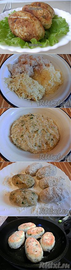 Kuracie rezeň so syrom a zemiaky.