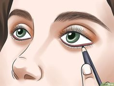 How to Tightline Eyes. Tightlining, also called invisible eyeliner, is a technique in which you line your upper waterline to subtly define and thicken the appearance of your eyelashes. Colorful Makeup, Simple Makeup, Eye Kajal, Parts Of The Eye, Bridal Eye Makeup, Makeup Spray, Face Jewels, Flawless Beauty, How To Apply Eyeliner