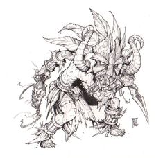 Witchdoctor 3 by peetcooper on DeviantArt Doctor Drawing, Witch Doctor, Dynamic Poses, Monster Design, Voodoo, Fantasy Characters, Line Drawing, Art Sketches, Concept Art
