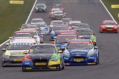 Race 3 Start – BTCC Donington Park 2013