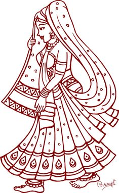 Graphics and Folk Assam: Clipart & Design ক্লিপ আৰ্ট Art Drawings For Kids, Outline Drawings, Art Drawings Sketches, Bird Drawings, Pencil Drawings, Folk Embroidery, Hand Embroidery Designs, Embroidery Patterns, Mural Painting