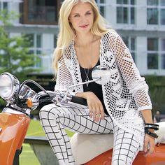 Net cardigan - kế hoạch móc dệt kim. Đan chiếc áo len trên Verena.ru