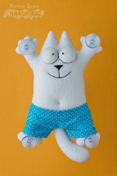 Сшить кота Саймона в семейных трусах. #Handmade #Toy #Hobby #Cat #Кот #КотСаймона #Игрушка