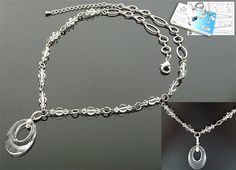 DoubleBeads Jewelry Kit Pure Air necklace ± 50-56cm with SWAROVSKI ELEMENTS beads, pendant and various other materials (such as natural stone, 925 silver clip and metal chain) - Crystal - DB0016