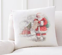 Nostalgic Santa List Pillow Cover
