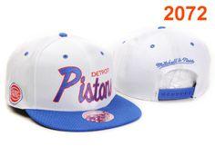NBA Detroit Pistons Snapback Hat White Blue T30