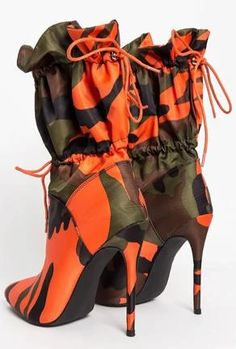 Lace Up Stilettos High Heels Camouflage Ankle Boots Lace Up High Heels, Super High Heels, Lace Up Ankle Boots, High Heel Boots, High Heels Stilettos, Heeled Boots, Stiletto Heels, Mid Calf Boots, Platform Boots