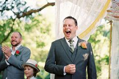 How amazing is this groom's reaction upon seeing his bride for the first time?!