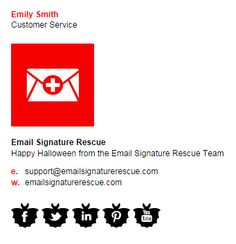 Create your own SPOOKY email signature this Halloween, complete with BATS social icons. Create yours instantly at http://emailsignaturerescue.com/halloween