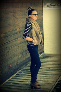 Faux fur vest #michaelkors #fashion