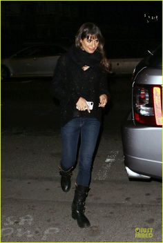 LEA MICHELE love the outfit especially the boots