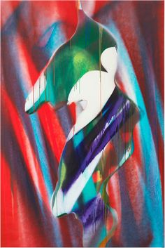 Katharina Grosse on canvas - Two Coats of Paint