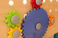 Making toy gear to mesh with existing gears Wooden Gear Clock, Wooden Gears, Wood Clocks, Diy And Crafts, Arts And Crafts, Gear Wheels, How To Make Toys, Woodworking Projects Plans, Inventions