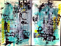 skorpionens rede: art journal pages just for fun!!