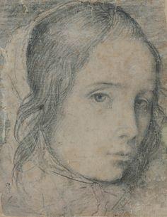 Diego Velázquez Cabeza de niña Dibujo a lápiz Adición