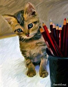 Birdie & Pencils by Robert McClintock