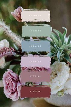 Wedding Color Schemes, Colour Schemes, Color Trends, Wedding Colour Palettes, Color Combos, Summer Color Palettes, Pantone Colour Palettes, Spring Color Palette, Bedroom Color Schemes