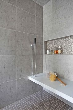 3 Loving Cool Tips: Large Shower Remodel Ideas walk in shower remodel river rocks.Stand Up Shower Remodel Walk In master shower remodel on a budget.Tub To Shower Remodel Diy. Small Shower Remodel, Guest Bathroom Remodel, Master Bathroom Shower, Simple Bathroom, Bathroom Remodeling, Bathroom Ideas, Restroom Remodel, Bathroom Grey, Basement Remodeling