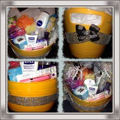 Pamper yourself gift basket gift ideas pinterest gift and goodies pamper yourself basket i made for a pageant donation on behalf of my new joint company solutioingenieria Choice Image