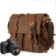08e95ab7a1 Handmade Vintage Canvas Camera Bags Messager Bags Briefcase 13  15  MacBook  14  Laptop Bags (m2138K) from NXXStudio-Vintage