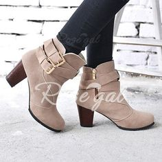 38b49bb2de41 Specification  Product Details Gender For Women Boot Type Fashion Boots  Boot Height Ankle Boot Tube Height Toe Shape Round Toe Heel Type Chunky Heel  Heel ...