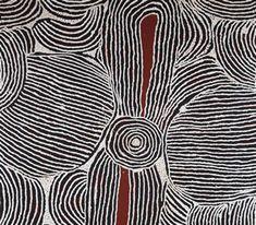"Detail of ""Wild Bush Flowers -- Alpita,"" 1995, acrylic on linen,  by Gloria Tamerre Petyarre. Aboriginal artist"