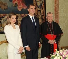 30 June 2014 Pope Francis meets with King Felipe and Queen Letizia  at the…