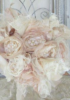 Bridal Fabric Flower Bouquet