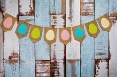 Egg garland, easter garland