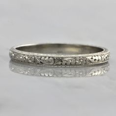 Hand Carved Wedding Band | Perry's Fine Antique & Estate Jewelry
