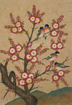 Bird on the Tree / Color on korean paper, 2005 /