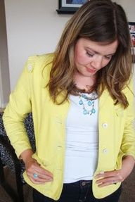 diy yellow jacket. I'm making it in houndstooth.