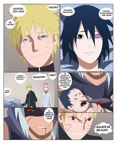 Naruto Vs Sasuke, Naruto Uzumaki Shippuden, Sasunaru, Sarada Uchiha Manga, Comic Naruto, Anime Dad, Naruto Sasuke Sakura, Naruto Cute, Narusasu