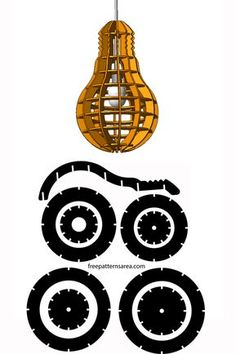 Bulb Shaped Laser Cut Industrial Mdf Lamp Design Idea - Fathi - Welcome to the World of Decor! 3d Laser Cutter, Laser Cutter Ideas, Laser Cutter Projects, Cnc Projects, Laser Cut Lamps, Laser Cut Wood, Laser Cutting, Diy Lampe, 3d Cnc