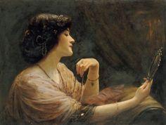 The Mirror (1911) by Frank Markham Skipworth (1854-1929).