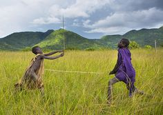 Donga stick fighting with kids, Tulgit Ethiopia | Flickr - Photo Sharing!