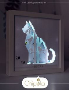 Build a scene die cut kit  for making led  light box projects