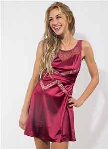 Wine Dress with Lace $7.50 per unit