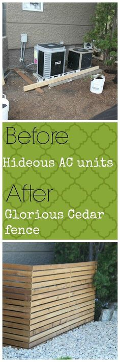 Clean Cedar Lines Hide Your AC