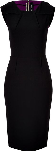 Roland Mouret Anatis Two-Tone Sheath on shopstyle.com