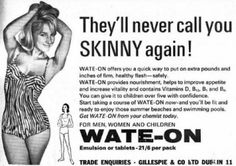 'Don't let them call you skinny': Vintage ads push women to gain weight | The Mommy Files | an SFGate.com blog