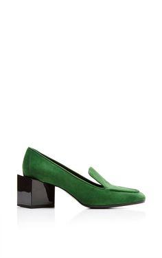 Kinks Высокий каблук Loafer зеленым Пьером Харди для предзаказа на Moda Operandi