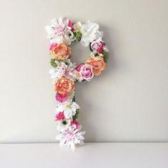 Nursery Letters, Nursery Name, Nursery Wall Art, Nursery Decor, Girl Nursery, Flower Letters, Flower Wall, Flower Alphabet, Chic Nursery
