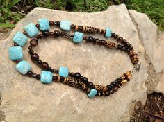 Sterling silver beads and clasp, agate, African Beads, Turquoise , Faceted Carnelian Agate