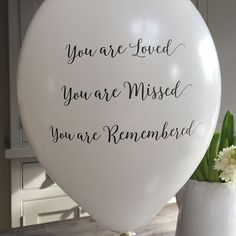 25 Pale Pink 'You are Loved - Missed - Remembered' Biodegradable Funeral Remembrance Balloons - for Memory Table - Memorial - Condolence - Anniversary - - Global Pics 2019 In Memory Of Dad, In Loving Memory, Balloon Release, Funeral Planning, Funeral Ideas, Funeral Party, Funeral Gifts, Memory Table, Funeral Memorial