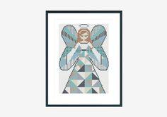 Cross stitch pattern makeforgood silver angel by SpruceXstitch