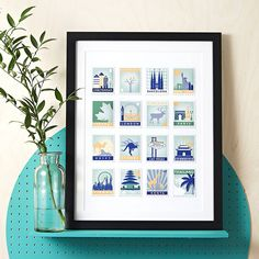 I've just found Stamp Art Destination Personalised Print 16 Stamps. A totally new way to tell the story of all the places you have been with personalised stamp images for each of your special locations.. £35.00